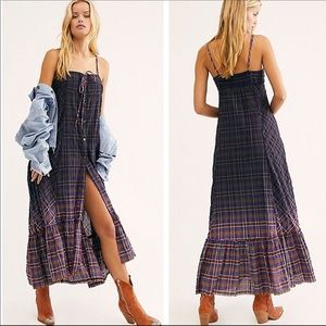 Free People | Plaid City Maxi Top Dress